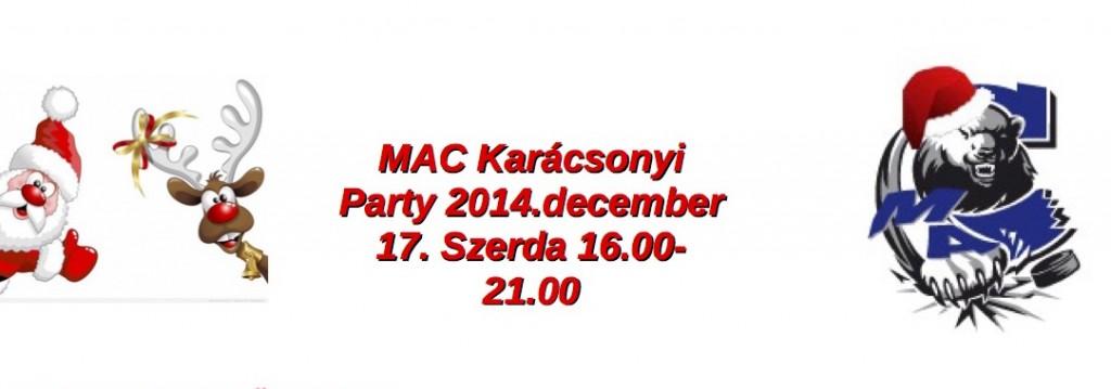 MAC Karácsonyi Party december 17-én