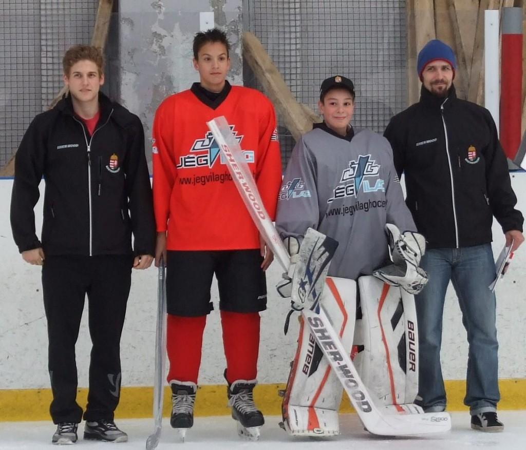 A piros csapat legjobbja, Keresztes Levente (balról a második)
